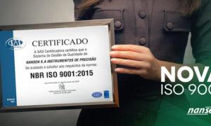 Nansen recebe recertificação ISO9001